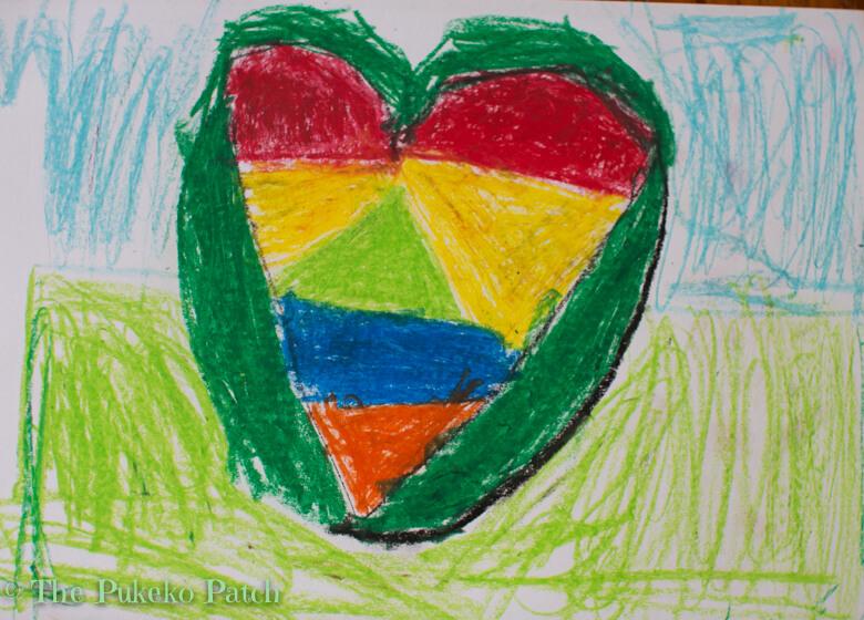 Oil Pastel Heart